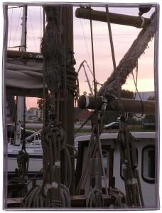 Hafen im Abendrot