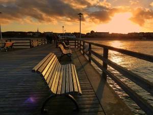 Sonnenuntergang Seebrücke Ahlbeck