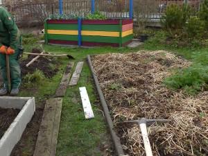 Neubauten im Garten
